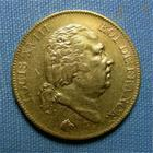 Photo numismatique  Monnaies Monnaies Fran�aises Louis XVIII 40 Francs or LOUIS XVIII, 40 Francs or 1818 W Lille, Gadoury 1092 vari�t� fines lignesTTB petit coup sur tranche