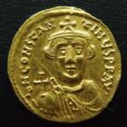 Monnaies ByzantinesConstant II, Constans IICONSTANT II, CONSTANS II, solidus or Constantinople en 641-668, Victoria Aug YA CONOB, 4,44 grms, Sear 942, fine rayure � l'avers sinon SUPERBE +