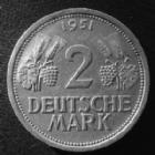 Photo numismatique  Monnaies Allemagne après 1871 Allemagne, Deutschland, Germany 2 mark, Zwei mark 2 Mark 1951 J, J.386 petites tâches sinon TTB+