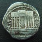 Photo numismatique  Monnaies Monnaies grecques Numidie Denier JUBA I, Numidie, denier 60-40 avant JC, temple à 8 colonnes, 3,33 grms, SNG COP.523 TB à TTB