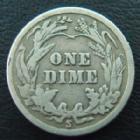 Photo numismatique  Monnaies Monnaies étrangères U.S.A One dime USA, One dime 1916 S, TB à TTB