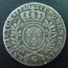 Photo numismatique  Monnaies Monnaies Royales Louis XV 1/2 Ecu aux branches d'olivier LOUIS XV, 1/2 Ecu aux branches d'olivier 1728 G Poitiers, 14,02 grms, L4L.481 R3!! B/TTB Peu commun !
