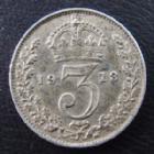 Photo numismatique  Monnaies Monnaies étrangères Grande Bretagne, Great Britain, Angleterre 3 Pences Grande Bretagne, Great Britain, Georges V 3 pence 1913, TTB/TTB+