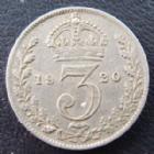 Photo numismatique  Monnaies Monnaies étrangères Grande Bretagne, Great Britain, Angleterre 3 Pences Grande Bretagne, Great Britain, Georges V, 3 pence 1920, TTB