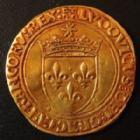 Photo numismatique  Monnaies Monnaies royales en or Louis XII Ecu d'or au soleil LOUIS XII, Ecu d'or au soleil, point 18e av/rv Paris, 3,42 grms, DY.647 TTB