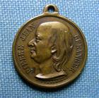Photo numismatique  Monnaies Médailles 19ème siècle Médaillette avec belière BERANGER, Poète, 1847, médaillette avec belière, 17 mm TTB+