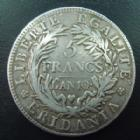 Photo numismatique  Monnaies Monnaies Françaises Napoleonides 5 Francs Gaule Subalpine Gaule Subalpine, Italie, 5 francs AN 10, 24,66 grms, TB à TTB