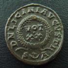 Photo numismatique  Monnaies Empire Romain LICINIUS I, LICINIO I,  Follis, folles,  LICINIUS I, follis Arles (Arelate) en 321, DN LICINI AUGUSTI, 3,18 grms, RIC 240 SUPERBE