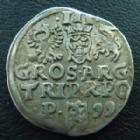 Photo numismatique  Monnaies Monnaies étrangères Pologne, Polland, Polski, Polska 3 Groschen Pologne, Polland, Sigismond III, 3 groschen 1599 Posen, 2,17 grms, GM.24 TTB+/TTB