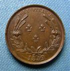 Photo numismatique  Monnaies Médailles 19ème siècle Médaille HENRI DE France, Comte de Chambord, 1849, foi espérance, médaille 20 mm, TTB+