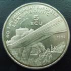 Photo numismatique  Monnaies Monnaies étrangères Luxembourg Médaille de 5 Ecu Luxembourg, Letzburg, médaille de 5 ecu 1992, 40 ans du parlement Européen, petites tâches sinon SUPERBE