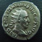 Photo numismatique  Monnaies Empire Romain TRAJAN DECE, TRAJANUS DECIUS, TRAIANUS DECIUS, TRAIANO DECIO,  Antoninien, antoninianus, antoniniane TRAJAN DECE, TRAJANUS DECIUS, antoninien  249-251, Dacia, 3,88 grms, RIC 12 TTB+