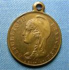 Photo numismatique  Monnaies Médailles 19ème siècle Médaillette avec belière République Française, siège de la ville de Paris, 1870/71, médaillette 23 mm, TTB+