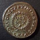 Photo numismatique  Monnaies Empire Romain CONSTANTIN I, CONSTANTINUS I, CONSTANTINO Follis, folles,  CONSTANTIN I, CONSTANTINUS I, follis, nummus, Héraclé (Heraclea) en 321-324, DN CONSTANTINI MAX AVG, VOT XX SMHA, 17/18 mm, 3,45 grms, RIC 60 QUPERBE+