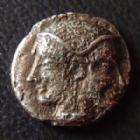Photo numismatique  Monnaies Monnaies grecques Mysie, Mysia, Lampsakos Trihémiobole MYSIE LAMPSAQUE, MYSIA LAMPSAKOS, trihemiobole vers 500-470 avant Jc, 9 mm, 0,74 grm, SNG COP.186 TB+/TB Rare!