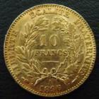 Photo numismatique  Monnaies Monnaies Françaises Troisième République 10 Francs or 10 Francs 1896 A Cérès, or 900°/°° 3,21 grms, G.1016 petits coups au revers sinon presque SUPERBE