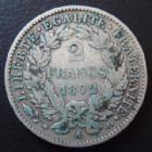 Photo numismatique  Monnaies Monnaies Françaises Troisième République 2 Francs 2 francs Cérès 1872 A, G.530a TB+