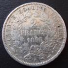 Photo numismatique  Monnaies Monnaies Françaises Troisième République 2 Francs 2 francs Cérès 1895 A, G.530a Nettoyée sinon TTB