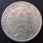 Photo numismatique  Monnaies Monnaies Françaises Troisième République 2 Francs 2 francs 1881 A Paris, 3e République, G.530a TB à TTB