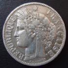 Photo numismatique  Monnaies Monnaies Françaises Troisième République 2 Francs 2 francs Cérès 1895 A Paris, 3e République, G.530a légerement nettoyée sinon TTB
