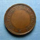 Photo numismatique  Monnaies Médailles 19ème siècle Médaille LA VACCINE, GIRONDE, médaille 27 mm, TTB