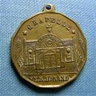 Photo numismatique  Monnaies Médailles 19ème siècle Médaillette avec belière DUC D'ORLEANS, Chapelle Ferdinand, médaillette 25 mm TTB