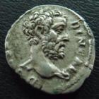 Photo numismatique  Monnaies Empire Romain ALBIN, CLODIUS ALBINUS, CLAUDIO ALBINO Denier, denar, denario, denarius CLODIUS ALBINUS, ALBIN, denier Rome en 193, PROVID AVG COS, 3,59 grms, RIC 1a, flan court sinon TTB+/TTB jolie portrait!