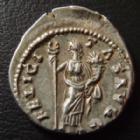 Photo numismatique  Monnaies Empire Romain CARACALLA Denier, denar, denario, denarius CARACALLA, denier Rome en 199-200, FELICITAS AVGG, 3,64 grms, RIC 35 TTB à SUPERBE