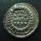 Photo numismatique  Monnaies Empire Romain CONSTANCE II, CONSTANTIUS II, CONSTANTIO II SILIQUE, SILIQUA CONSTANCE II, CONSTANTIUS II, silique Arles en 360-363, Votis xxx Mvlt xxxx, P CON, 18 mm, 1,86 grms, RIC 291 TTB/TTB+