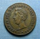 Photo numismatique  Monnaies Médailles 19ème siècle Médaillette DUC D'ORLEANS, Inauguration de la statue le 29 Juillet 1845, 25 mm TTB