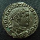 Photo numismatique  Monnaies Empire Romain CONSTANTIN I, CONSTANTINUS I, CONSTANTINO Follis, folles,  CONSTANTIN I le Grand, CONSTANTINUS I Magnus, follis Lyon (Lugdunum) en 313-314, Soli Invicto Comiti, PLG- S F, 21 mm, 5,30 grms, RIC1, TTB à SUPERBE