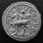 Photo numismatique  Monnaies Empire Romain GORDIEN III, GORDIAN III, GORDIANUS III, GORDIANO III Denier, denar, denario, denarius GORDIEN III d'Afrique, GORDIANUS III Africanus, denier Rome en 240, PM TR P III COS PP gordien à cheval, 3,60 grms, beau flan de 21 mm, RIC 81 SUPERBE