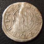 Photo numismatique  Monnaies Allemagne avant 1871 Allemagne, Deutschland, Bayern, Baviere 1 Kreuzer Bayern, Bavière, Maximilian Ie 1623-1651, 1 kreuzer 1640, 0,76 grm, Hahn 91 pliure sinon TB à TTB R!