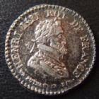 Photo numismatique  Monnaies Jetons Louis XVIII et Henri IV Jeton argent LOUIS XVIII et HENRI IV, jeton en argent 17 mm, 2,01 grms, P.SUPERBE
