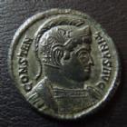 Photo numismatique  Monnaies Empire Romain CONSTANTIN I, CONSTANTINUS I, CONSTANTINO Follis, folles,  CONSTANTIN I, CONSTANTINUS Magnus, follis Trêves (Trier) en 322-323, buste casqué, votis xx, 19 mm, 2,61 grms, RIC 368 SUPERBE