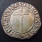 Photo numismatique  Monnaies Monnaies/médailles de Lorraine René II Demi gros RENE II, 1473-1508, demi gros Nancy, 1,42 grms, flon manque! TTB+