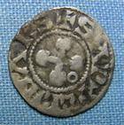 Photo numismatique  Monnaies Monnaies F�odales Dauphin� Denier DAUPHINE, VALENCE ET DIE, Denier anonyme, Boudeau 1021 TTB