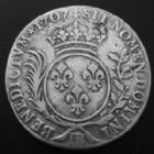 Photo numismatique  Monnaies Monnaies Royales Louis XIV 33 Sols de Strasbourg aux insignes et aux palmes LOUIS XIV, 33 sols de Strasbourg aux insignes et aus palmes, 1707 BB, 9,02 grms, L4L.385 TTB