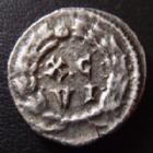 Photo numismatique  Monnaies Empire Romain MAXIMIEN HERCULE, MAXIMIANUS, MAXIMIAN, MAXIMIANO, HERCULUS Argenteus, argentei MAXIMIEN Hercule, MAXIMIANUS Herculius, argenteus Carthage (Karthago) en 300, X.C/VI dans une couronne, 17 mm, 3,00 grms, RIC 15b TB à TTB Rare!