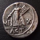 Photo numismatique  Monnaies Empire Romain AUGUSTE, AUGUSTUS, AUGUSTO Denier, denar, denario, denarius AUGUSTE, AVGVSTVS, denier Lyon en 15-13 avant JC, IMP X ACT, 2,64 grms, RIC 171a Flan court sinon TTB � SUPERBE