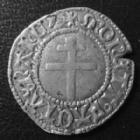 Photo numismatique  Monnaies Monnaies/médailles de Lorraine René II Blanc RENE II, blanc, à partir de 1496, 0,94 grm, Flon P.571-64 variante, Bon TTB Rare!