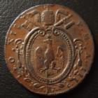 Photo numismatique  Monnaies Monnaies étrangères Vatican, papal states Mezzo baiocco, 1/2 baiocoo VATICAN, Léon XII, mezzo baiocco 1826 Rome, 6,64 grms, PC.3258 TTB