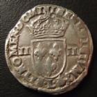 Photo numismatique  Monnaies Monnaies Royales Henri III Quart d'Ecu HENRI III, 1/4 d'Ecu frapp� au marteau 1589 L Bayonne, 9,52 grms, DY.1133 TB � TTB