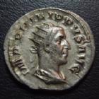 Photo numismatique  Monnaies Empire Romain PHILIPPE I, PHILIPPUS I, PHILIPPUS I ARABS, PHILIPPO I Antoninien, antoninianus, antoniniane PHILIPPE Ier l'Arabe, PHILIPPUS I Arabs, antoninien Rome en 244-247, ANNONA AUGG, a ses pieds une proue de navire, 21-23 mm, 4,18 grms, P. SUPERBE