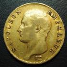 Photo numismatique  Monnaies Monnaies Française en or 1er Empire 40 Francs or NAPOLEON Ier, 40 francs or 1806 A Paris, tête nue, or 900°/°°, 12,84 grms, G.1082 TB+/TTB