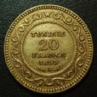 Photo numismatique  Monnaies Anciennes colonies Françaises Tunisie 20 Francs or TUNISIE, TUNISIA, protectorat Français, 20 francs or 1898 A, or 900°/°°, 6,44 grms, Fried.12, LEC.452 TTB+