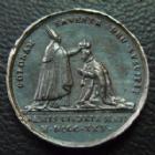 Photo numismatique  Monnaies Médailles Médaille, Médaillette de sacre Charles X CHARLES X, medaillete de Sacre, Reims en 1825, argent 14 mm, 2,29 grms, Patine de médailler TTB