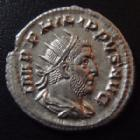 Photo numismatique  Monnaies Empire Romain PHILIPPE I, PHILIPPUS I, PHILIPPUS I ARABS, PHILIPPO I Antoninien, antoninianus, antoniniane PHILIPPE I L'Arabe, PHILIPPUS I Arabs, antoninien Rome en 249, Fides exercitus 4 enseignes, 22 mm, 3,37 grms, RIC 62 SUPERBE+/SUPERBE