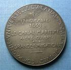 Photo numismatique  Monnaies Médailles 19ème siècle Médaille CANAL DE SUEZ, Médaille argent 42 mm, le 17 Novembre 1869, le canal a été ouvert…TTB à SUPERBE