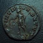 Photo numismatique  Monnaies Empire Romain NUMERIEN, NUMERIAN, NUMERIANUS, NUMERIANO Antoninien, antoninianus, antoniniane NUMERIEN, NUMERIANUS, antoninien Ticinium en 283-284, Princip Ivventvt VIXXI, 21 mm, 3,11 grms, RIC 366 TTB+